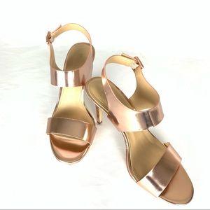 Michael Kors Rose Gold High Heel Sandal Size 8.5